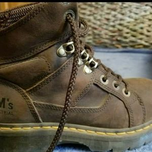 Work boots. Dr Martens, steel toes, slip resistant